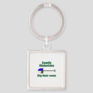 Genealogy Family Crest Shovel Keychains