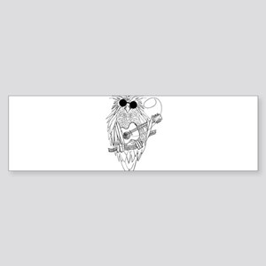 Music owl Bumper Sticker