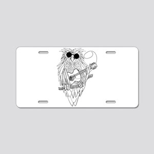 Music owl Aluminum License Plate