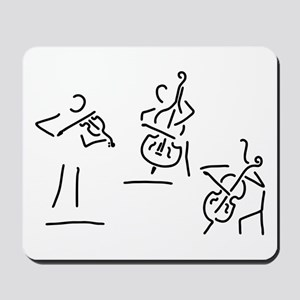 violinist cellist string player contraba Mousepad