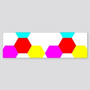 rainbow grid pattern Bumper Sticker