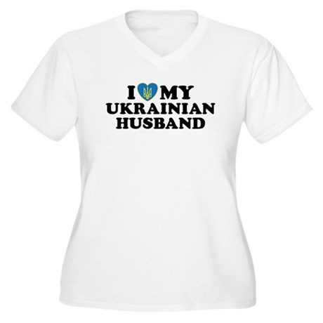 I Love My Ukrainian Husband Women's Plus Size V-Ne