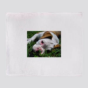Baby Rufus Grass copy Throw Blanket