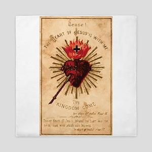 Heart of Jesus Queen Duvet
