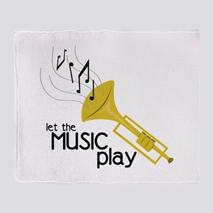 Let the Music Play Throw Blanket