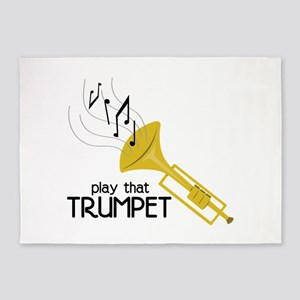 Play that Trumpet 5'x7'Area Rug