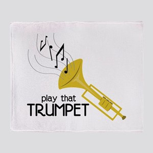 Play that Trumpet Throw Blanket