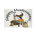 Witches Scene Rectangle Magnets (10 pack)