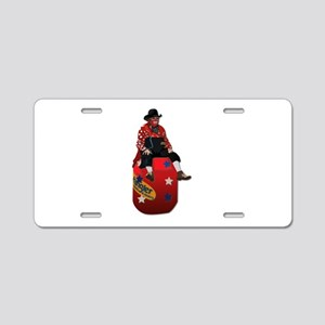 Rodeo Clowns Aluminum License Plate