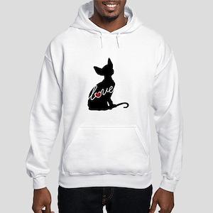 Sphynx Love Hooded Sweatshirt