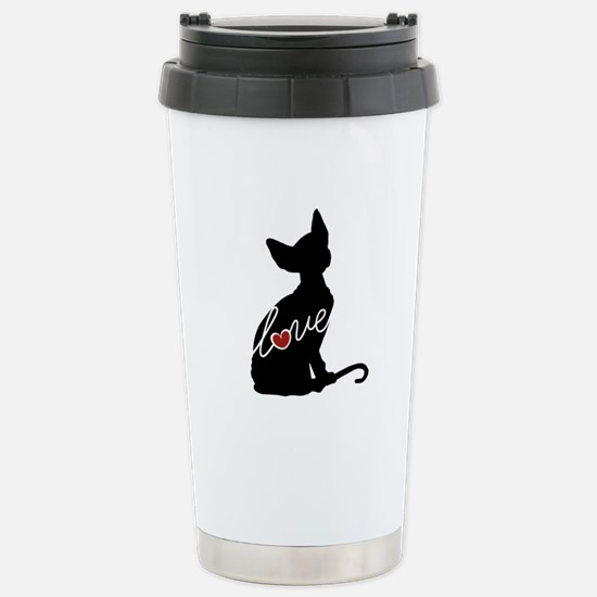 Sphynx Love Stainless Steel Travel Mug