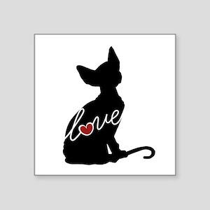 "Sphynx Love Square Sticker 3"" x 3"""