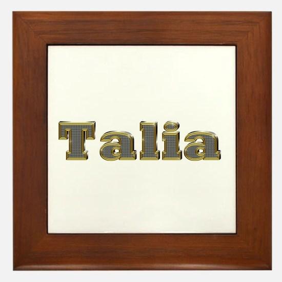 Talia Gold Diamond Bling Framed Tile