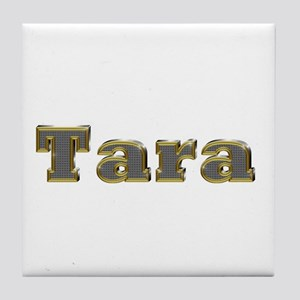 Tara Gold Diamond Bling Tile Coaster