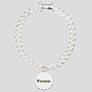 Tessa Gold Diamond Bling Charm Bracelet