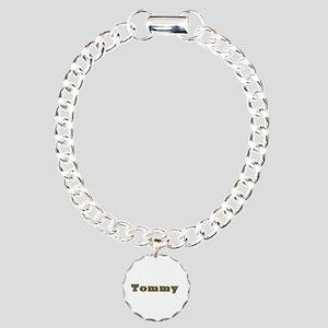 Tommy Gold Diamond Bling Charm Bracelet
