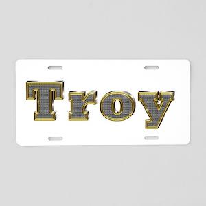 Troy Gold Diamond Bling Aluminum License Plate