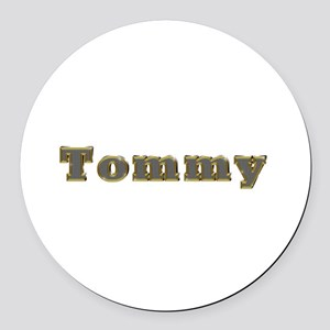 Tommy Gold Diamond Bling Round Car Magnet