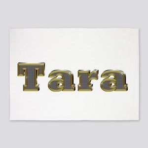 Tara Gold Diamond Bling 5'x7' Area Rug