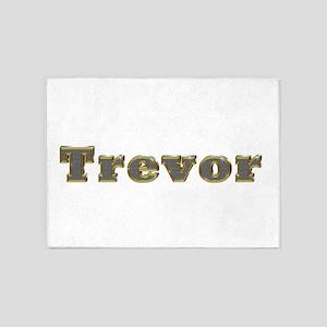 Trevor Gold Diamond Bling 5'x7' Area Rug