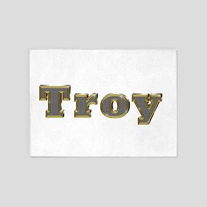 Troy Gold Diamond Bling 5'x7' Area Rug