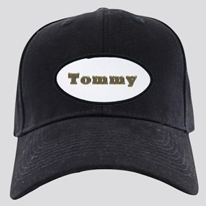 Tommy Gold Diamond Bling Black Cap