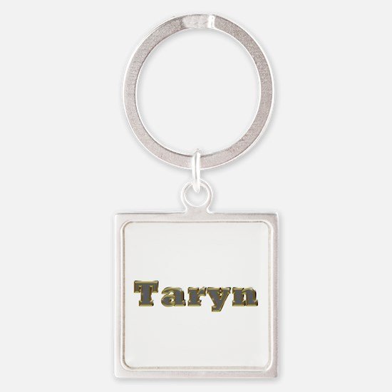 Taryn Gold Diamond Bling Square Keychain