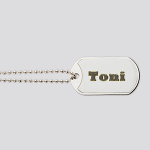 Toni Gold Diamond Bling Dog Tags