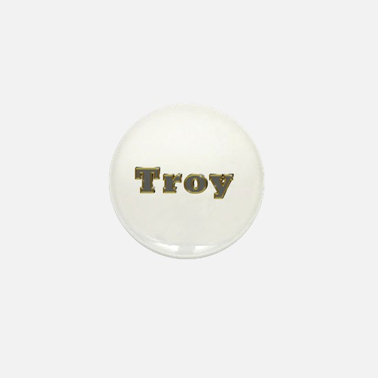 Troy Gold Diamond Bling Mini Button