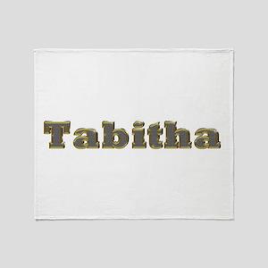Tabitha Gold Diamond Bling Throw Blanket