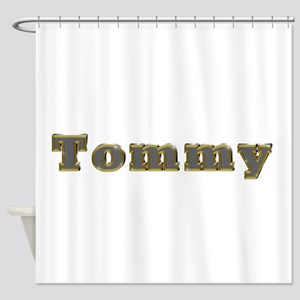 Tommy Gold Diamond Bling Shower Curtain