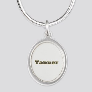 Tanner Gold Diamond Bling Silver Oval Necklace