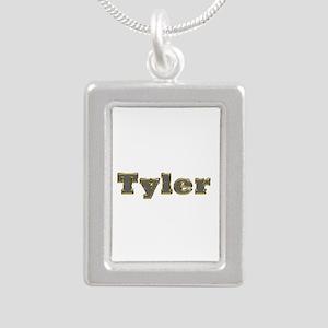 Tyler Gold Diamond Bling Silver Portrait Necklace