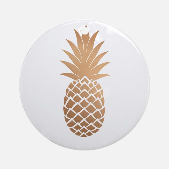 Gold pineapple Ornament (Round)