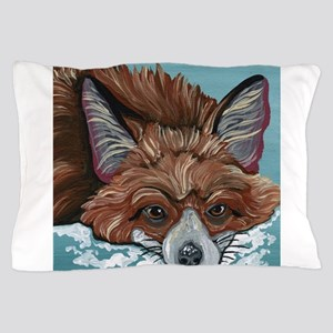 Red Fox in Snow Pillow Case