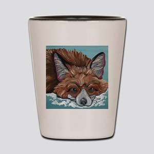 Red Fox in Snow Shot Glass