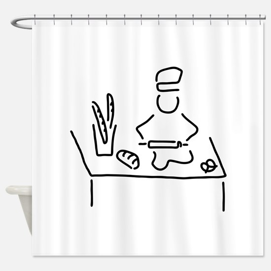 Baker bread beacon Shower Curtain