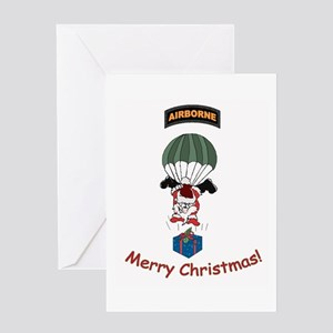 Airborne Santa Greeting Card