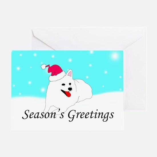 American Eskimo Santa Greeting Card