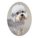 Dandie Dinmont Terrier Oval Ornament