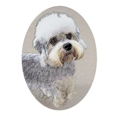 Dandie Dinmont Terrier Oval Ornament