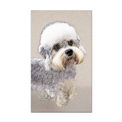 Dandie Dinmont Terrier Rectangle Car Magnet
