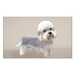 Dandie Dinmont Terrier Sticker (Rectangle 50 pk)