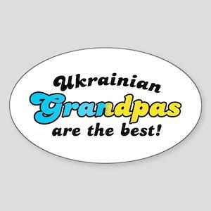 Ukrainian Grandpas are the Be Oval Sticker