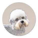 Dandie Dinmont Terrier Round Car Magnet