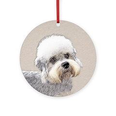 Dandie Dinmont Terrier Round Ornament