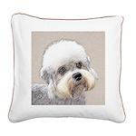 Dandie Dinmont Terrier Square Canvas Pillow