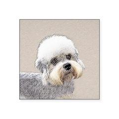 Dandie Dinmont Terrier Square Sticker 3