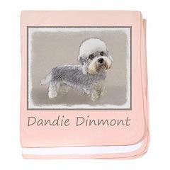 Dandie Dinmont Terrier baby blanket