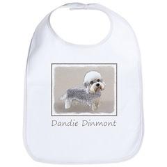 Dandie Dinmont Terrier Cotton Baby Bib